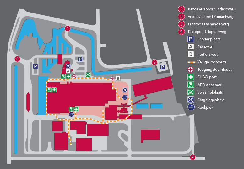 Plattegrond HVC terrein Alkmaar