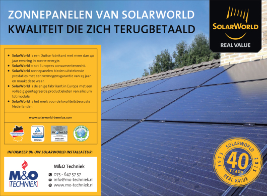 Solarworld - advertentie zonnepanelen