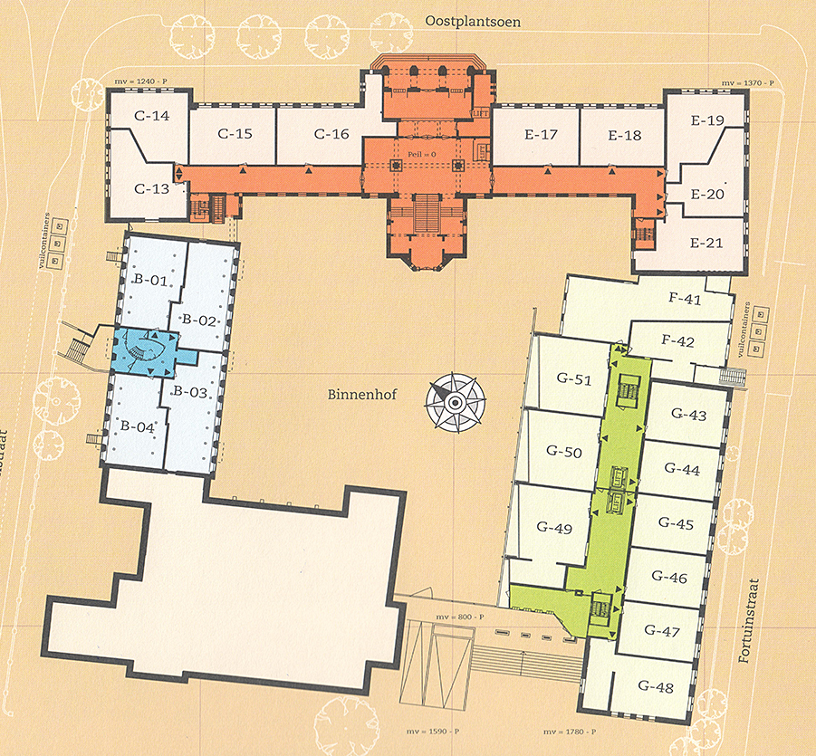 Nieuwe appartementen in historisch gebouw