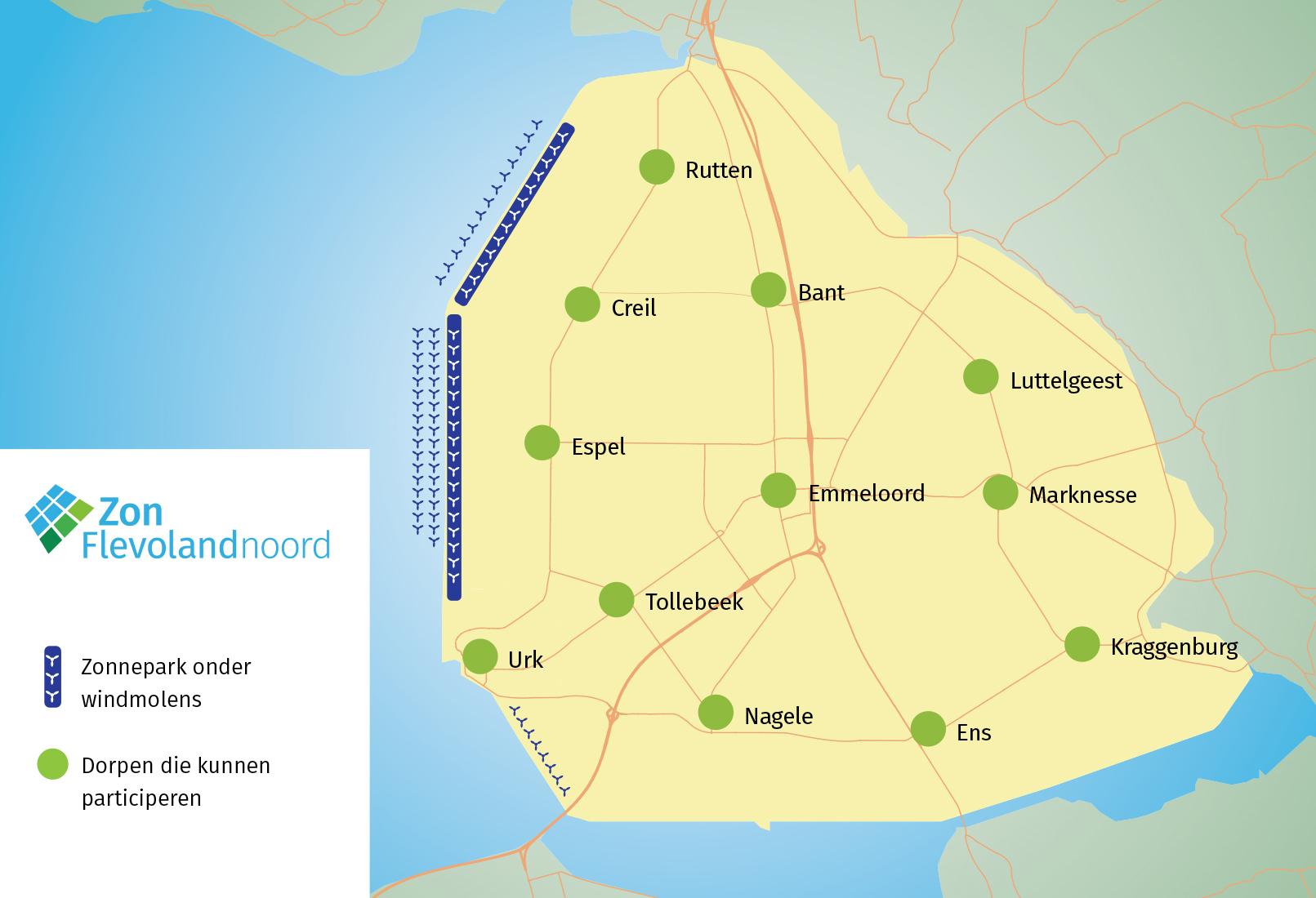 Flevoland Noord zonnepanelen