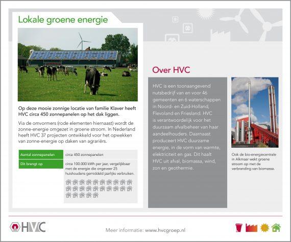 HVC - Informatiepaneel zonnepanelen op boerderij